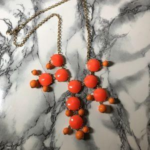 Orange & Gold J.Crew Bubble Necklace